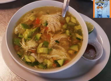 Caldo de Pollo at Taqueria Ranchos La Delicias in Buffalo, New York