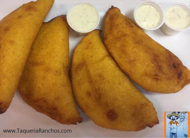 Empanadas on a plate at Taqueria Ranchos La Delicias in Buffalo New York